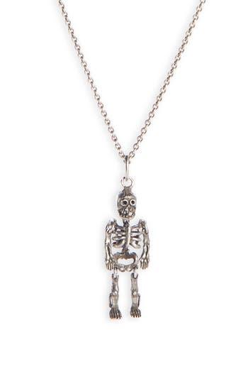 Saint Laurent Skeleton Pendant Necklace