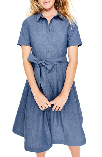 Boden Anastasia Tie Front Shirtdress
