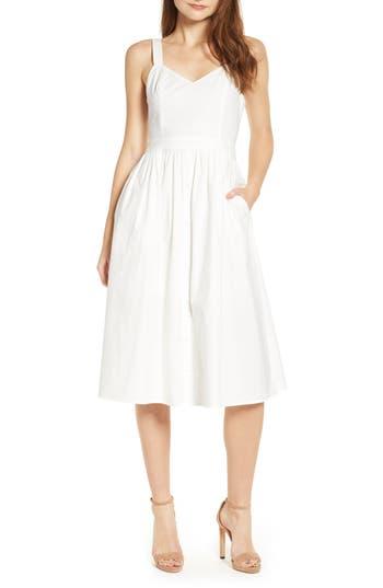 English Factory Poplin Tie Back Midi Dress
