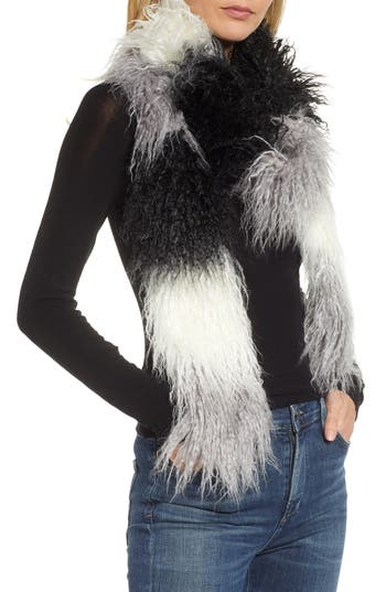 Trouvé Long Faux Fur Scarf