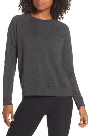 Beyond Yoga Slashes Raglan Sleeve Sweater