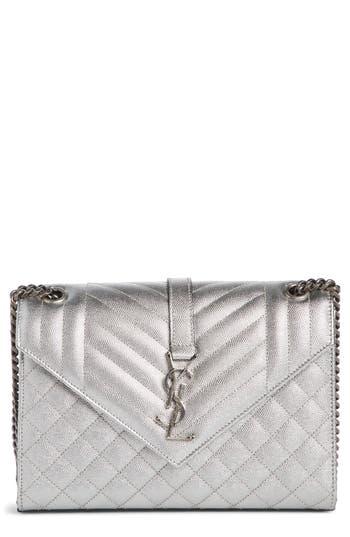 Saint Laurent Medium Monogram Quilted Calfskin Shoulder Bag