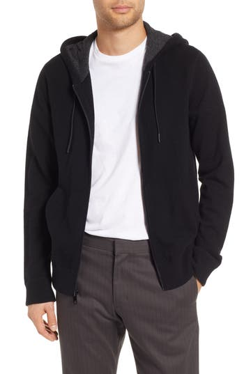 Vince Regular Fit Cashmere Zip Hoodie