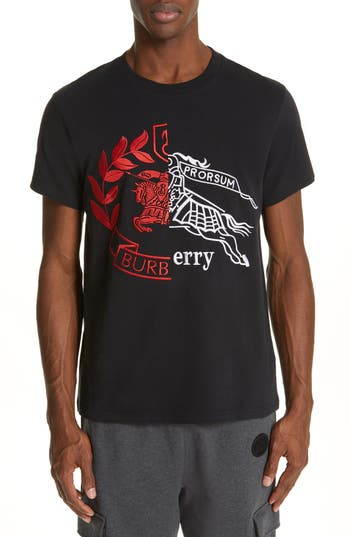 Burberry Soleford Embroidered Logo T-Shirt