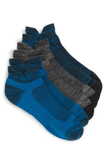 Zella 3-Pack Double Tab Running Socks