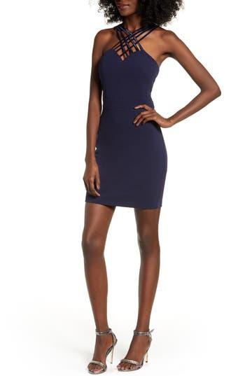 Love, Nickie Lew Lattice Strap Body-Con Dress