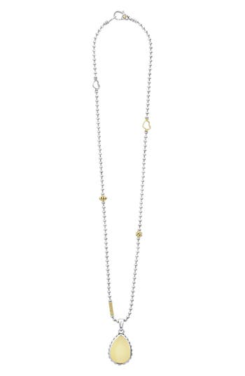 LAGOS Caviar High Bar Pendant Necklace