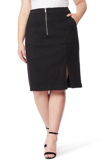 Rebel Wilson x Angels Zip Front Denim Skirt
