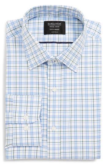 Nordstrom Men's Shop Tech-Smart Traditional Fit Check Stretch Dress Shirt