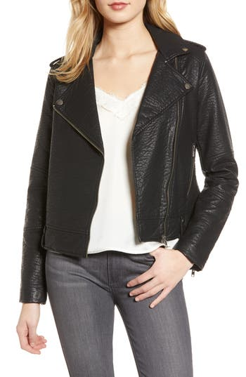 cupcakes and cashmere Vivica Faux Leather Jacket