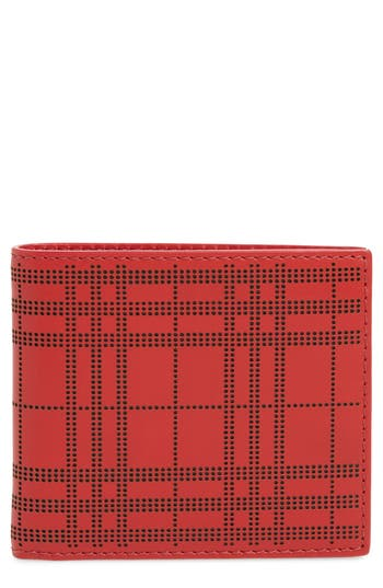 Burberry Perforated Check Leather Billfold