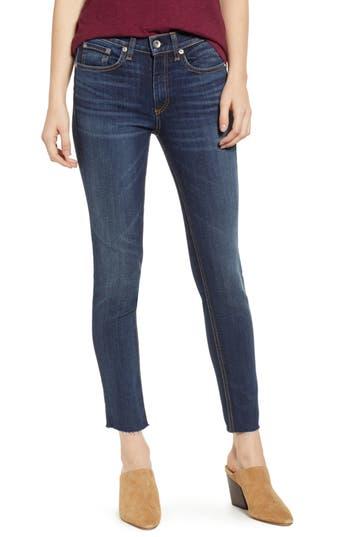 rag & bone/JEAN Raw Hem Ankle Skinny Jeans