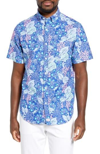 vineyard vines Murray Slim Fit Pineapple Print Sport Shirt