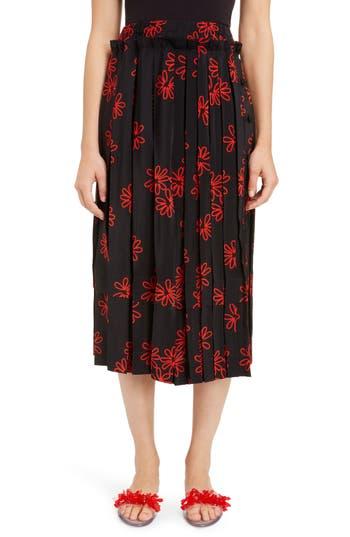 Simone Rocha Wiggle Flower Pleated Skirt