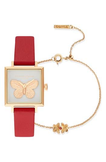Olivia Burton 3D Butterfly Bracelet Watch, 22mm