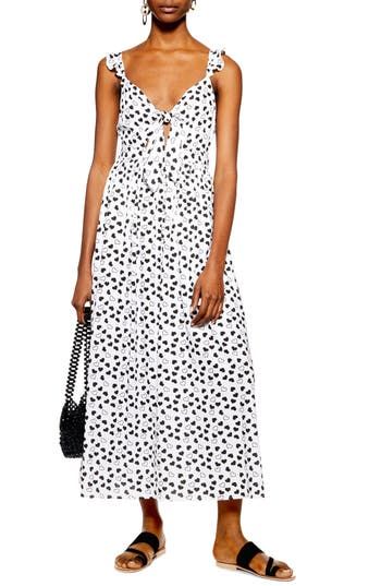 Topshop Heart Knot Maxi Dress