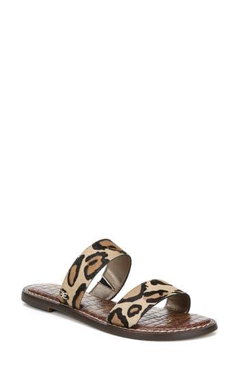 Sam Edelman Gala Two Strap Genuine Calf Hair Slide Sandal