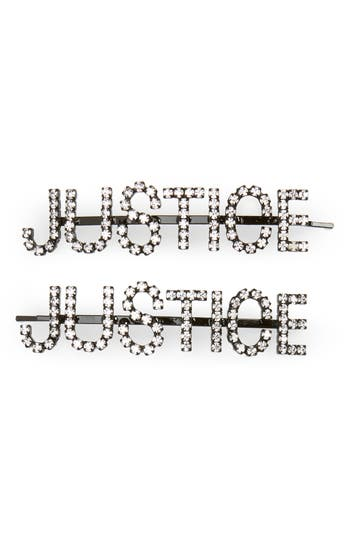 Ashley Williams Justice Set of 2 Crystal Hair Pins