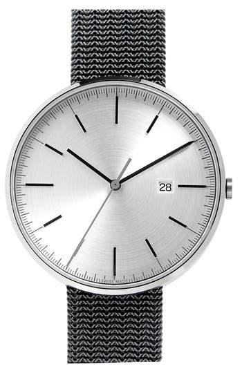 Uniform Wares M-Line Mesh Bracelet Watch, 40mm