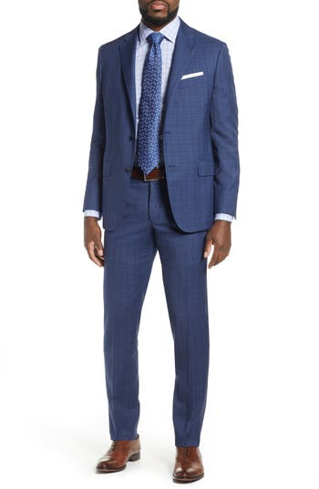 Hickey Freeman Beacon Classic Fit Plaid Wool Suit