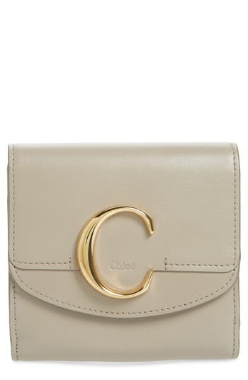 Chloé Square Leather Wallet