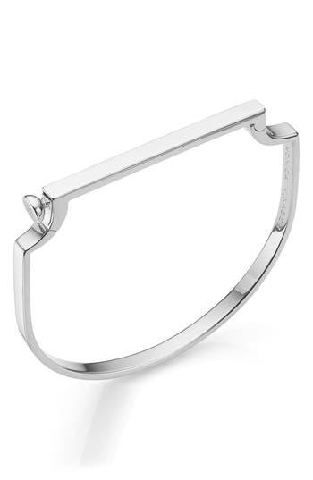 Monica Vinader Engravable Signature Thin Bangle Bracelet