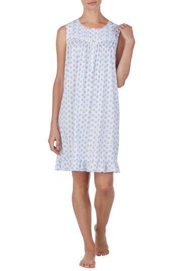 Eileen West Medallion Print Short Cotton Nightgown