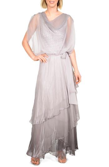 Komarov Cowl Neck Popover Gown
