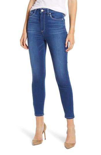 PAIGE Transcend Vintage - Margot High Waist Crop Skinny Jeans (Isle)