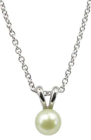 Girl's Honora Light Green Freshwater Pearl Necklace