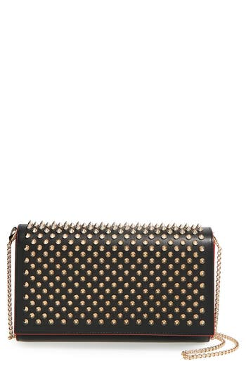 Christian Louboutin 'Paloma' Spiked Calfskin Clutch - at NORDSTROM.com