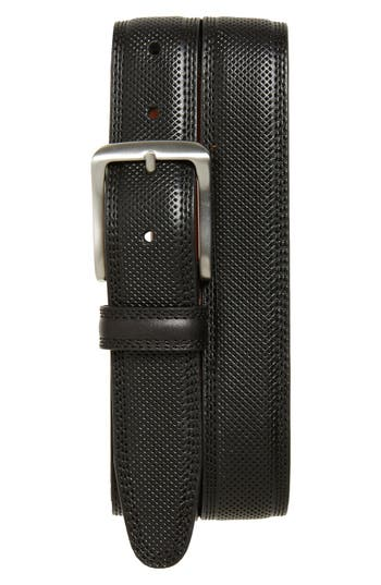 Johnston & Murphy Textured Leather Belt