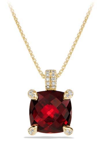 Women's David Yurman 'Châtelaine' Pendant Necklace With Diamonds