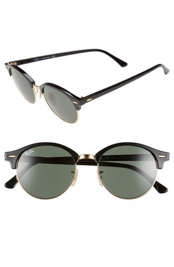 Ray-Ban Clubround 51Mm Round Sunglasses -
