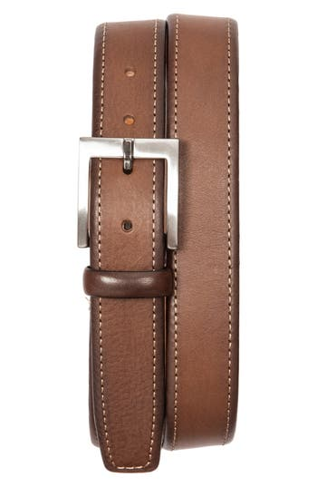 Men's Tommy Bahama Contrast Stitch Leather Belt