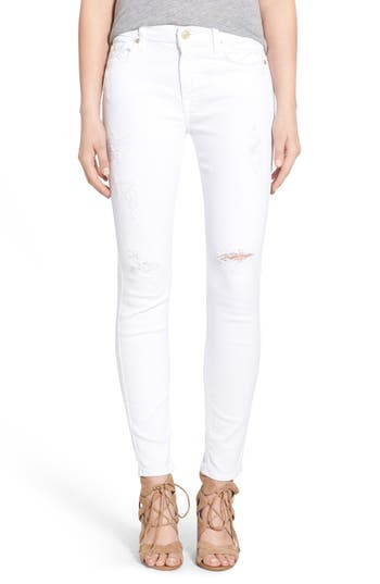 Women's 7 For All Mankind Destroyed Ankle Skinny Jeans