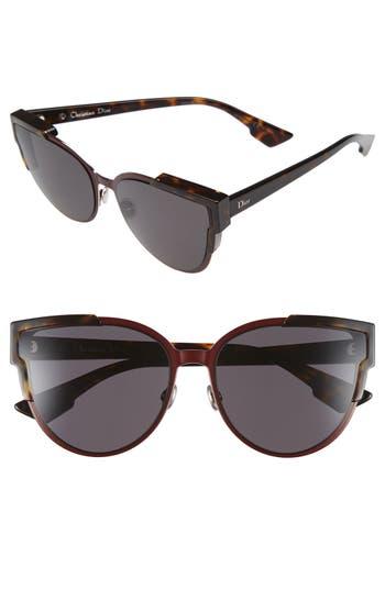 Women's Dior Wildly Dior 60Mm Cat Eye Sunglasses - Havana/ Brown/ Green/ Havana
