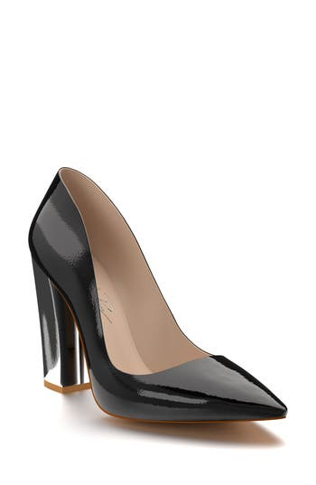 Shoes Of Prey Block Heel Pump, Black