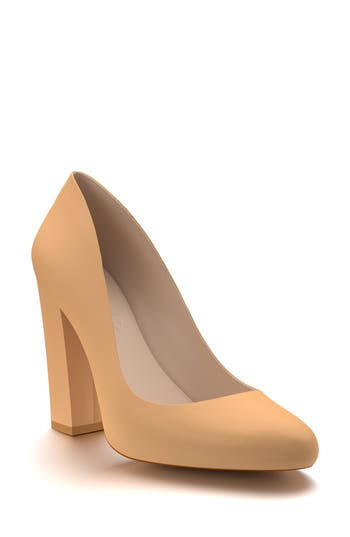 Shoes Of Prey Round Toe Pump - Beige