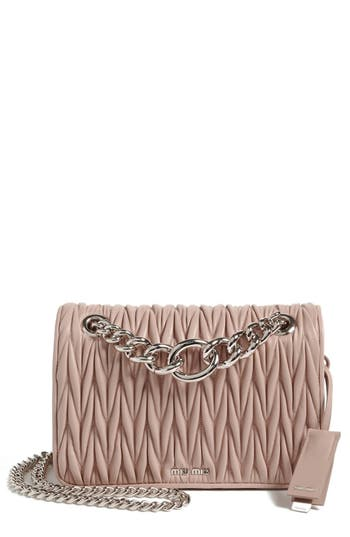 Miu Miu 'Club' Matelasse Leather Shoulder Bag - at NORDSTROM.com