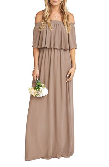 Show Me Your Mumu Hacienda Convertible Gown, Brown