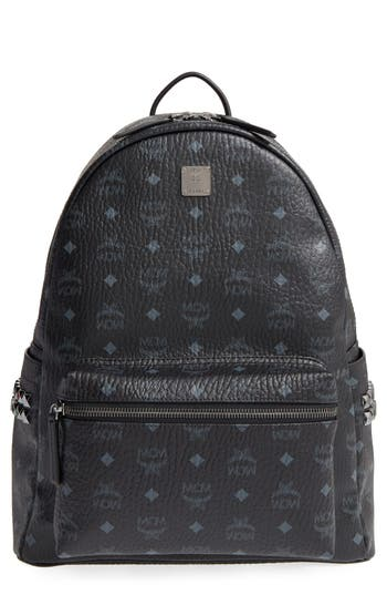 MCM MediumStark Visetos Coated Canvas Backpack