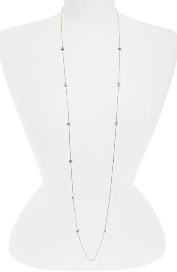 Women's Nadri Long Bezel Station Necklace