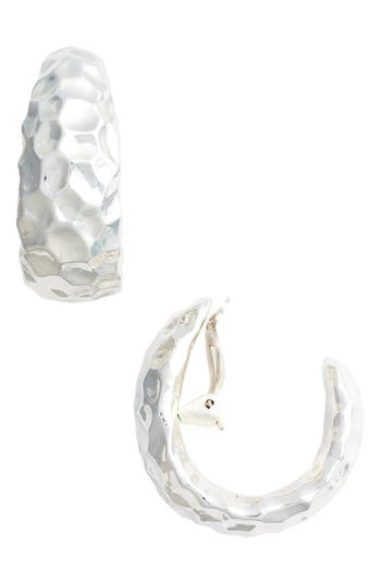 Women's Simon Sebbag Hammered Clip Hoop Earrings