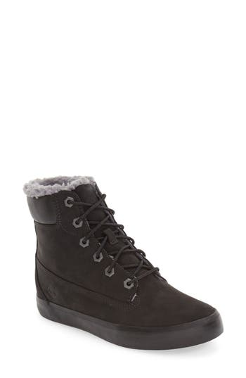 Women's Timberland Flannery Hidden Wedge Boot With Faux Fur Lining, Size 8.5 M - Black