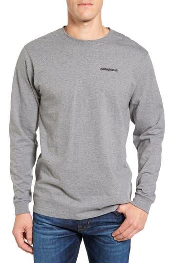 Patagonia P-6 Logo Organic Cotton T-Shirt, Grey