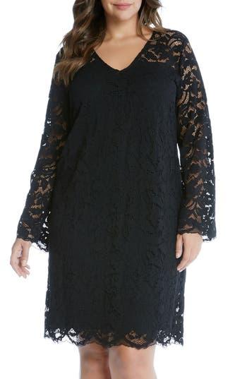 Plus Size Women's Karen Kane Lace A-Line Dress