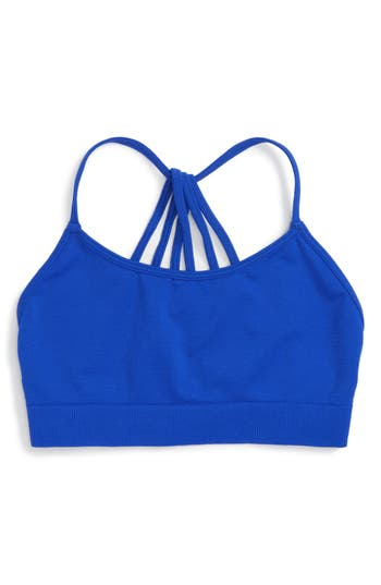 Girl's Suzette Collection Spaghetti Back Bralette, Size One Size - Blue
