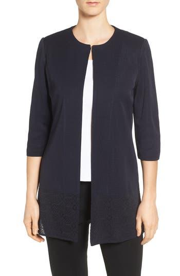 Ming Wang Long Collarless Jacket