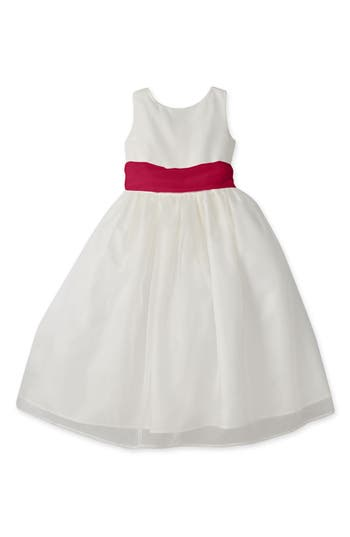 Girls Us Angels Sleeveless Organza Dress Size 10  White